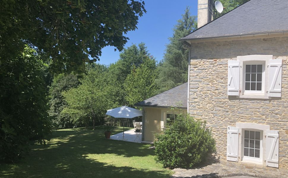Privately Located, Stone Farmhouse & Converted Barn serving as a Gîte, set in 10 Hectares
