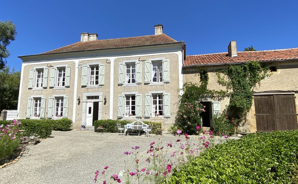 A Classic French Manor House with an Elegant Symmetrical Façade.