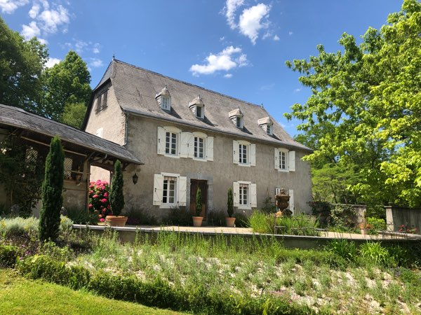 This delightful 18C Maison de Maitre is hidden at the end of its wooded driveway, and would appeal to someone specifically looking for a private location.  The property sits in 4.8 hectares of predominately wooded land and over-looks beautiful rolling countryside to the Pyrenees mountains.