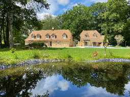 A Charming Water Mill with Guest Cottage, Pool & Tennis Court