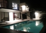 The House & Pool at Night