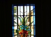 Stain Glass Window, near Rear Terrace