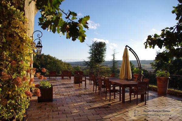 The Dining Terrace with View of the Pyrenees