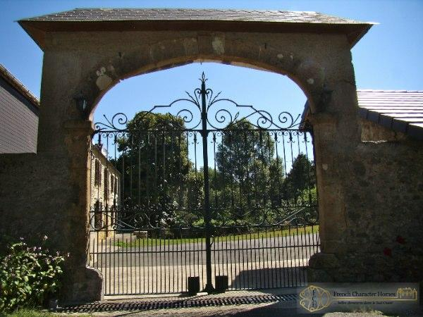 The Entrance Gates, looking into the Property.