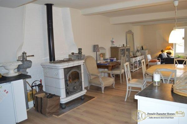 The Living Area, showing Wood burning Stove