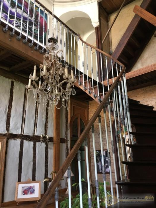 The Wrought Iron and Wooden Staircase