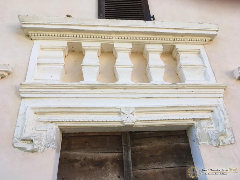 Masonry Detail above Front Door