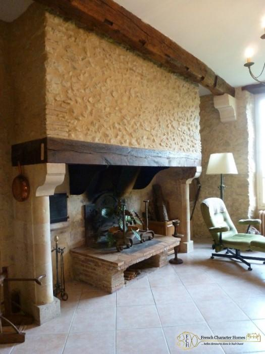 Main House : Fireplace in the Salon