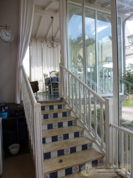 Steps from Summer Kitchen to Conservatory