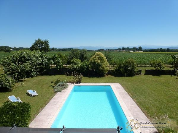 Views across the Pool to the Pyrenees