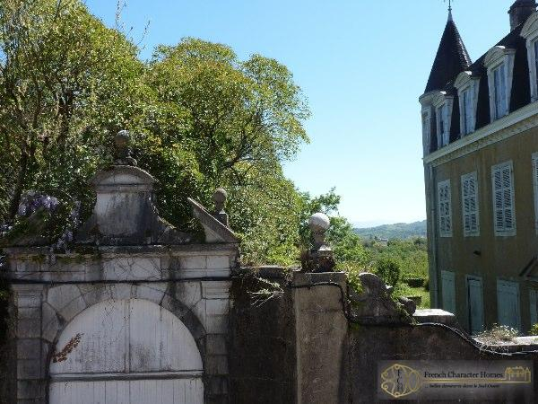 Views Across the Old Hostellerie to Mountains